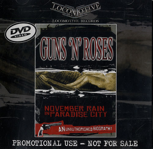 Guns N Roses November Rain In Paradise City US Promo DVD