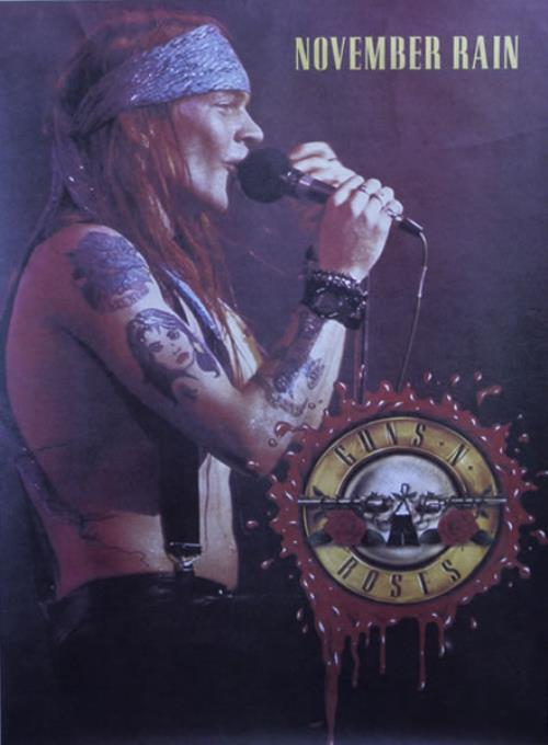 Guns N Roses November Rain Uk Promo Poster 28743
