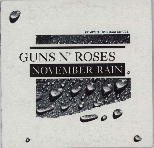 "Guns N Roses November Rain CD single (CD5 / 5"") Australian GNRC5NO753738"