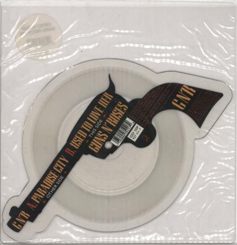 Guns N Roses Paradise City - Clear shaped picture disc (picture disc vinyl record) UK GNRSHPA00661