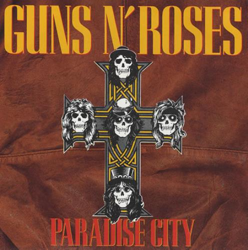 "Guns N Roses Paradise City 7"" vinyl single (7 inch record) UK GNR07PA00666"