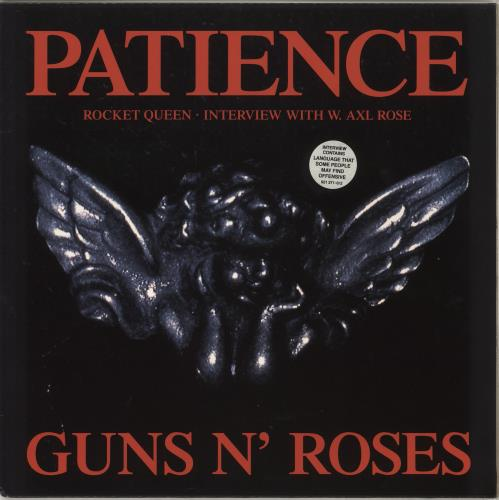 "Guns N Roses Patience 12"" vinyl single (12 inch record / Maxi-single) UK GNR12PA38852"