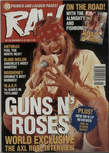 Guns N Roses Raw No.136 magazine UK GNRMARA653706