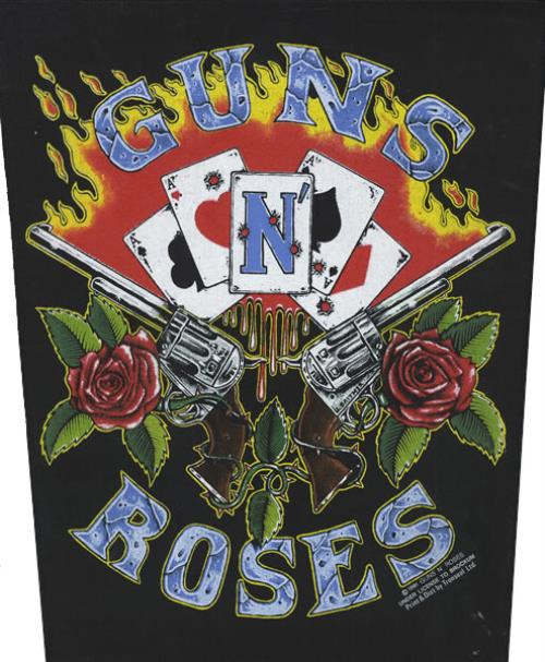 Guns N Roses Sew On Back Patch Uk Memorabilia 423637 Sew On Back Patch