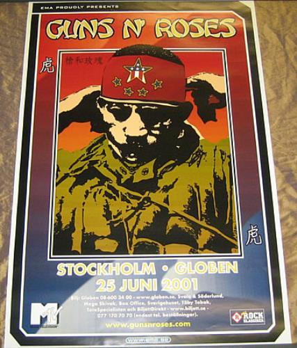 Guns N Roses Stockholm poster Swedish GNRPOST360426