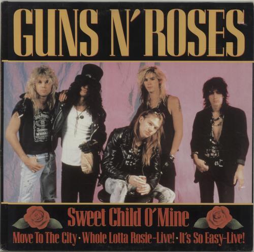 "Guns N Roses Sweet Child O' Mine 12"" vinyl single (12 inch record / Maxi-single) German GNR12SW282272"