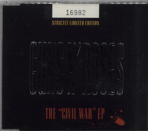 """Guns N Roses The Civil War EP CD single (CD5 / 5"""") UK GNRC5TH22058"""