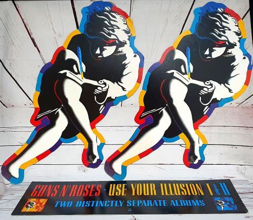 Guns N Roses Use Your Illusion I & II display UK GNRDIUS753855