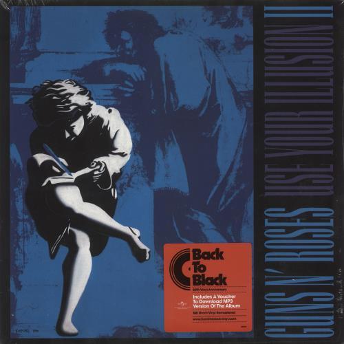 Guns N Roses Use Your Illusion II - 180gram Vinyl + Sealed 2-LP vinyl record set (Double Album) UK GNR2LUS688437