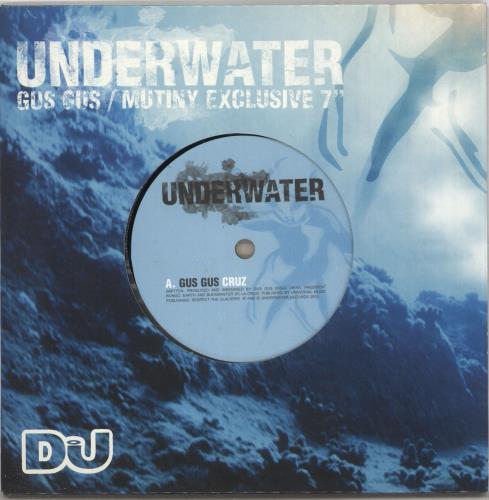 """Gus Gus Cruz / Drums 7"""" vinyl single (7 inch record) UK GGU07CR274847"""