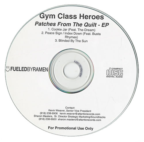 Gym Class Heroes Patches From The Quilt Ep Us Promo Cd R Acetate