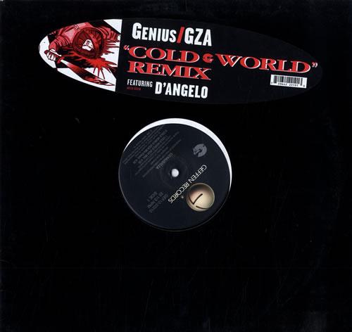 """GZA Cold World 12"""" vinyl single (12 inch record / Maxi-single) US GZB12CO557202"""