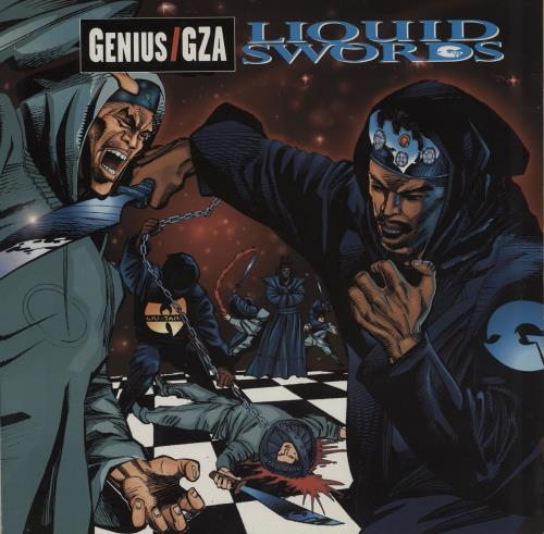 GZA Liquid Swords - 1st 2-LP vinyl record set (Double Album) UK GZB2LLI754129