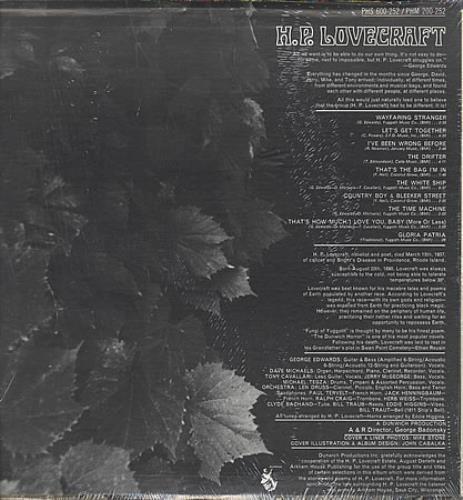 H.P. Lovecraft H.P. Lovecraft vinyl LP album (LP record) US HPLLPHP390637