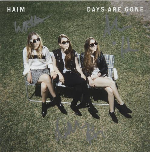 Haim Days Are Gone + Signed Art Print 2-LP vinyl record set (Double Album) UK IYJ2LDA660897