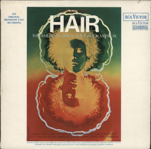 Hair (The Musical) Hair - 1st vinyl LP album (LP record) UK 6HALPHA698933
