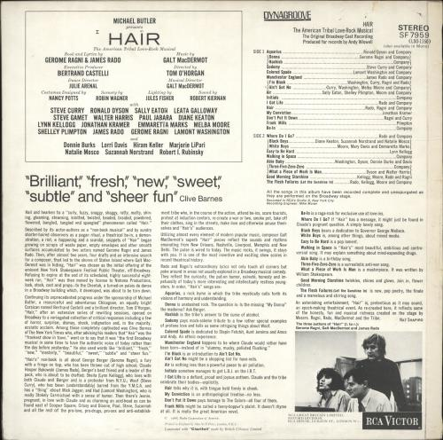 Hair (The Musical) Hair - 1st vinyl LP album (LP record) UK 6HALPHA698933
