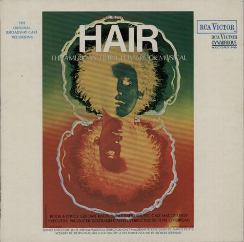 Hair (The Musical) Hair - 2nd vinyl LP album (LP record) UK 6HALPHA612077