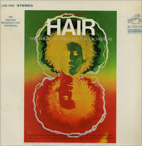 Hair (The Musical) Hair - Broadway Cast vinyl LP album (LP record) US 6HALPHA357056
