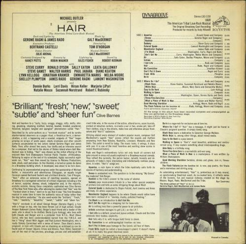 Hair (The Musical) Hair - Broadway Cast vinyl LP album (LP record) Canadian 6HALPHA773349