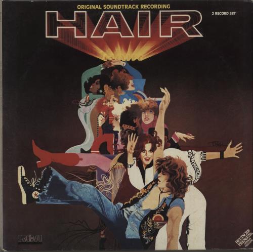 Hair (The Musical) Hair 2-LP vinyl record set (Double Album) German 6HA2LHA669042