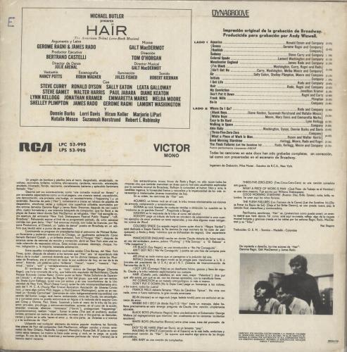 Hair (The Musical) Hair vinyl LP album (LP record) Brazilian 6HALPHA735955