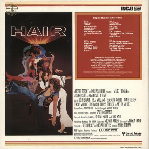 Hair (The Musical) Hair 2-LP vinyl record set (Double Album) UK 6HA2LHA745832