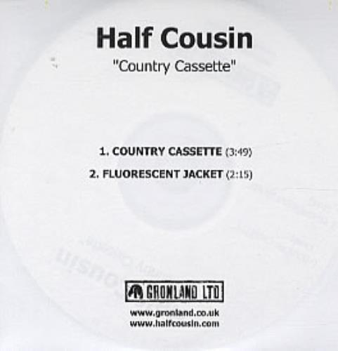 Half Cousin Country Cassette CD-R acetate UK HCUCRCO317880