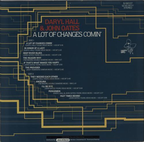 Hall & Oates A Lot Of Changes Comin' vinyl LP album (LP record) German HNOLPAL655972