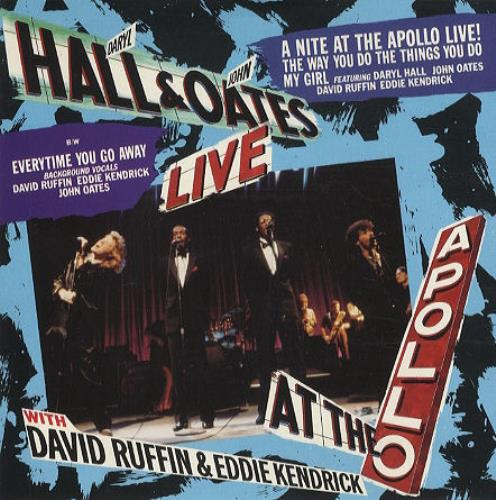 """Hall & Oates A Night At The Apollo Live! 7"""" vinyl single (7 inch record) UK HNO07AN224568"""