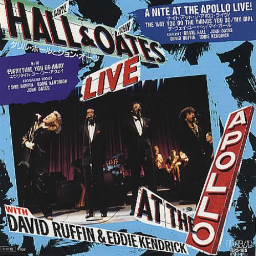 """Hall & Oates A Nite At The Apollo Live! 7"""" vinyl single (7 inch record) Japanese HNO07AN225520"""