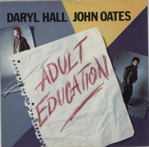 "Hall & Oates Adult Education 12"" vinyl single (12 inch record / Maxi-single) UK HNO12AD657904"