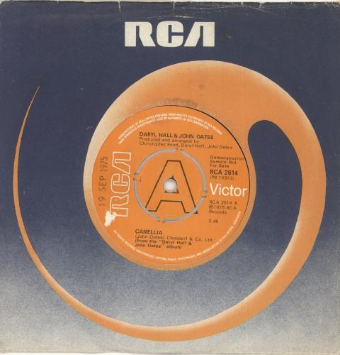 "Hall & Oates Camellia - Demo 7"" vinyl single (7 inch record) UK HNO07CA720194"