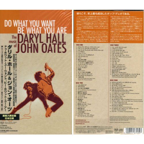 Hall & Oates Do What You Want, Be What You Are 4-CD album set Japanese HNO4CDO484019