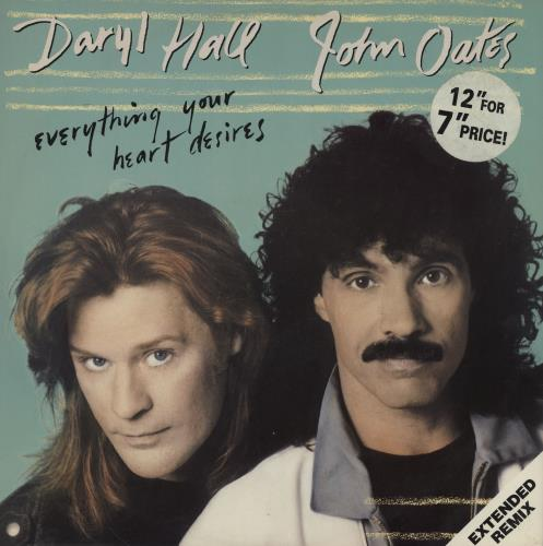 """Hall & Oates Everything Your Heart Desires 12"""" vinyl single (12 inch record / Maxi-single) UK HNO12EV755205"""