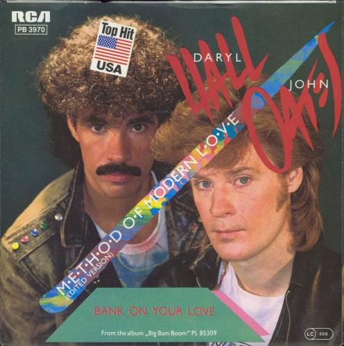 "Hall & Oates Method Of Modern Love + press release 7"" vinyl single (7 inch record) German HNO07ME770099"