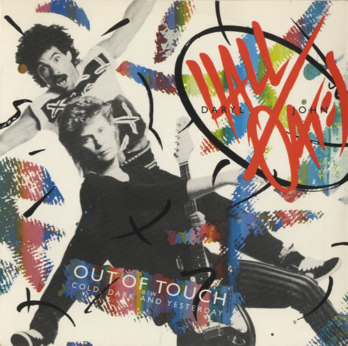 """Hall & Oates Out Of Touch 7"""" vinyl single (7 inch record) UK HNO07OU461495"""