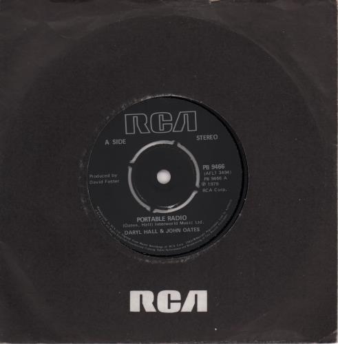 "Hall & Oates Portable Radio 7"" vinyl single (7 inch record) UK HNO07PO662330"