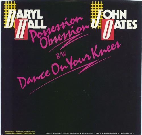 "Hall & Oates Possession Obsession 7"" vinyl single (7 inch record) US HNO07PO770109"