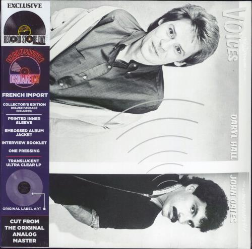 Hall & Oates Voices - RSD21 - Clear Vinyl - Sealed vinyl LP album (LP record) French HNOLPVO774800