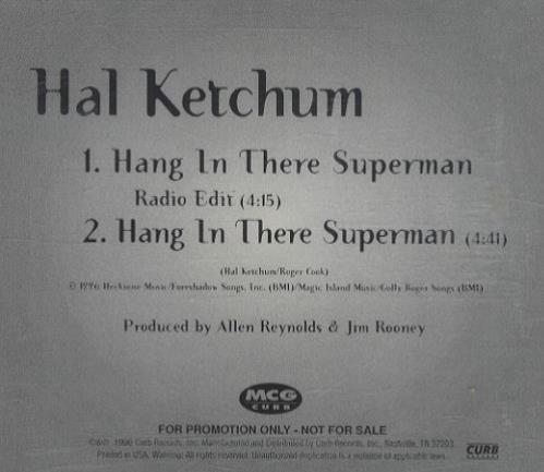 "Hal Ketchum Hang In There Superman CD single (CD5 / 5"") US HLKC5HA220348"