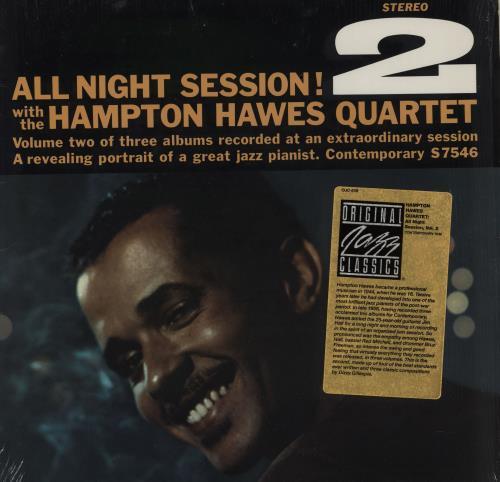 Hampton Hawes All Night Session, Vol. 2 - stickered shrink vinyl LP album (LP record) US HWWLPAL751948