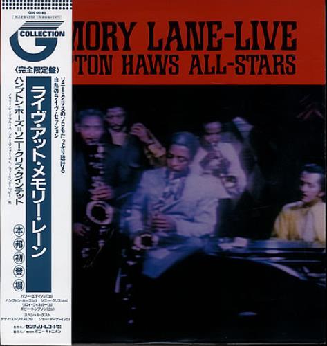 Hampton Hawes Live At Memory Lane vinyl LP album (LP record) Japanese HWWLPLI365681