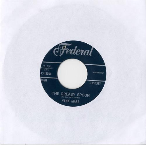 "Hank Marr The Greasy Spoon 7"" vinyl single (7 inch record) US HL-07TH548938"
