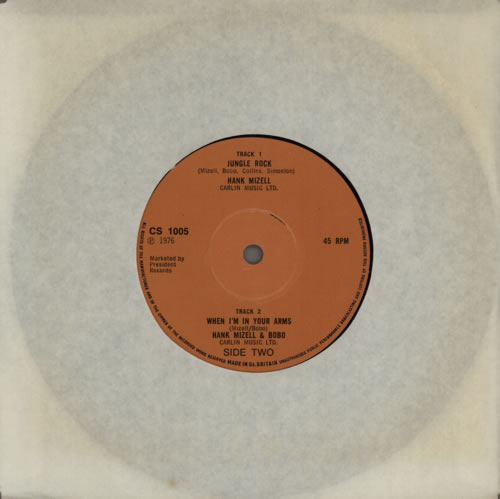 "Hank Mizell Jungle Rock 7"" vinyl single (7 inch record) UK HM507JU617002"