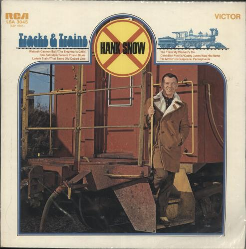 Hank Snow Tracks & Trains vinyl LP album (LP record) UK HNWLPTR328698