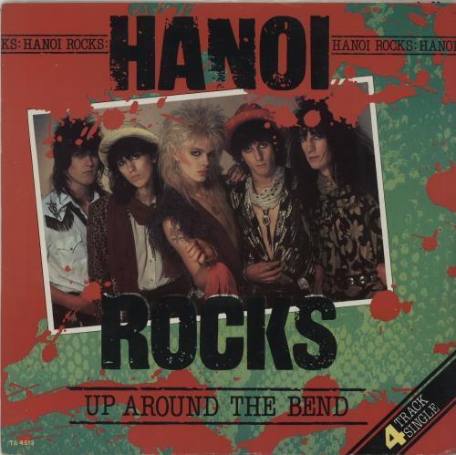 "Hanoi Rocks Up Around The Bend 12"" vinyl single (12 inch record / Maxi-single) UK HAN12UP07023"