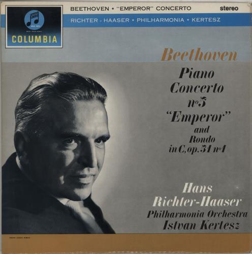 """Hans Richter-Haaser Beethoven: Piano Concerto No. 5 """"Emperor"""" & Rondo in C, Op.51 No. 1 - 2nd vinyl LP album (LP record) UK QMQLPBE750122"""