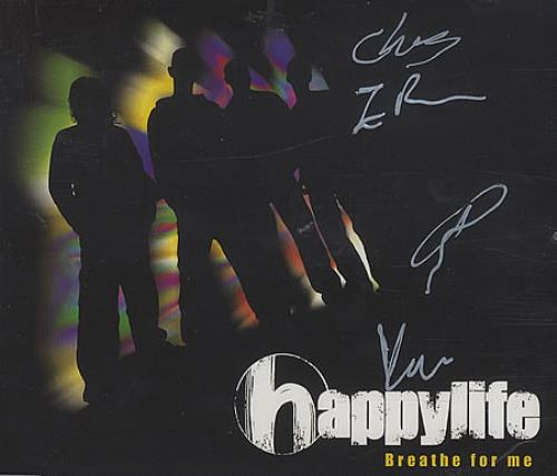 """Happylife Breathe For Me - Fully Autographed! CD single (CD5 / 5"""") UK HAEC5BR396929"""