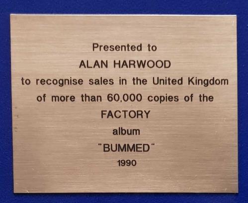 Happy Mondays Bummed award disc UK HAPAWBU697545